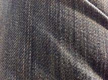 Macro de la textura de los vaqueros Foto de archivo libre de regalías