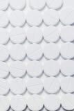 Macro de las píldoras blancas Foto de archivo