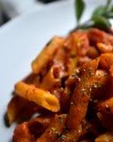 Macro de las pastas del tomate Fotos de archivo libres de regalías