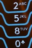 Macro de los claves del teléfono celular Imagen de archivo libre de regalías