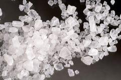 Macro de los cristales de la sal del mar Fotografía de archivo libre de regalías