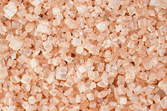 Macro de los cristales del azúcar marrón Fotos de archivo