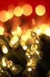 Macro de luzes do feriado Fotografia de Stock