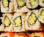 Macro de Maki Sushi Fotografía de archivo