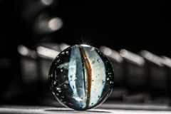 Macro de marbre en verre a Photographie stock libre de droits