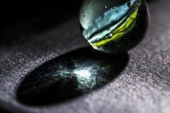 Macro de marbre en verre a Photos stock