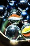 Macro de marbre en verre a Photographie stock