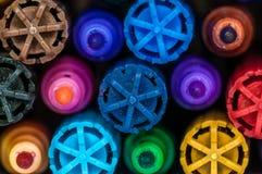 Macro de marcadores coloreados imágenes de archivo libres de regalías