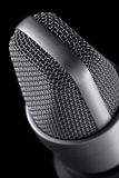 Macro de microphone Photographie stock