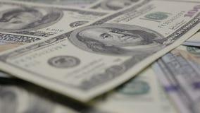 Macro de mouvement d'argent banque de vidéos