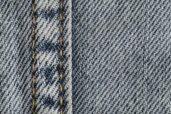 Macro de naadpatroon vage achtergrond van de jeansstof Denim achtergrondtextuur voor ontwerp royalty-vrije stock foto's