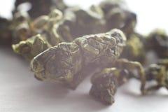 Macro de Oolong del té verde Imagen de archivo libre de regalías