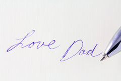 Papa d'amour Photos libres de droits