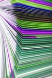 Macro de papel da textura dos arquivos Imagens de Stock