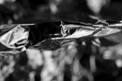 Macro de papier aluminium image libre de droits