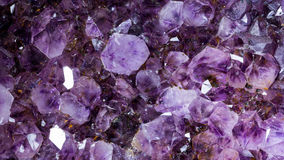 Macro de pierre gemme d'améthyste Image libre de droits