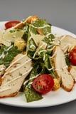 Macro de plan rapproché de salade de légume frais de salade de César Photo stock
