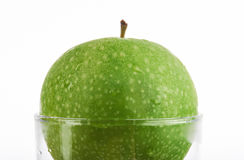 Macro de pomme verte Photos libres de droits