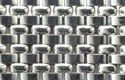 Macro de prata da faixa de relógio Imagens de Stock