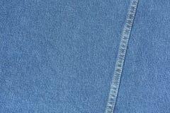 Macro de stoffentextuur van het jeansjasje voor abstract patroon backgroun Royalty-vrije Stock Afbeelding