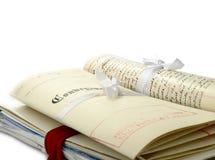 Paquet juridique Photographie stock