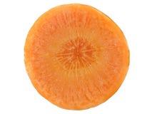 Macro de uma fatia da cenoura imagens de stock