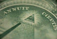 Macro de un dólar imagen de archivo