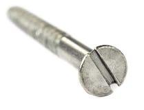 Macro de un tornillo de metal Imagen de archivo