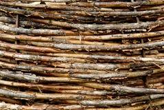 Macro de una cesta de mimbre Fotografía de archivo