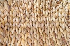 Macro de una cesta tejida Imagen de archivo