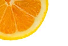 Macro de una naranja fresca Imagen de archivo