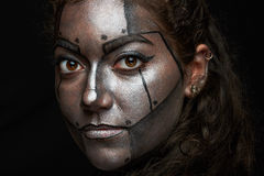 Macro de visage peint photo libre de droits