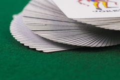 Macro of deck of cards Royalty Free Stock Photography