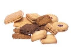 Macro dei biscotti isolata immagini stock