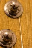 Macro dei pioli di sintonia della chitarra Fotografia Stock Libera da Diritti