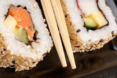Macro dei sushi immagine stock libera da diritti