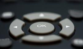 Macro dei tasti di telecomando Fotografia Stock