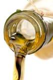 Macro del aceite de oliva Fotos de archivo libres de regalías