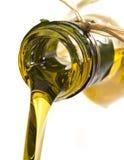 Macro del aceite de oliva Foto de archivo libre de regalías