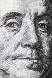 Macro del billete de dólar 100 Imagen de archivo libre de regalías