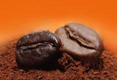 Macro del caffè Fotografie Stock