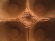Macro del cartón del huevo Foto de archivo