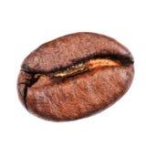 Macro del chicco di caffè isolata su fondo bianco Immagini Stock Libere da Diritti