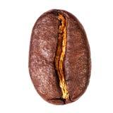 Macro del chicco di caffè isolata su fondo bianco Di alta risoluzione Immagine Stock