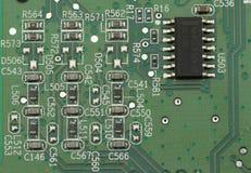 Macro del circuito de la PC Imagen de archivo libre de regalías