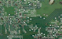 Macro del circuito del PC fotografia stock