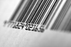 Macro del codice a barre Fotografia Stock Libera da Diritti