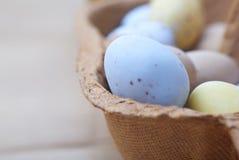 Macro del contenitore di uovo di Pasqua Immagine Stock Libera da Diritti