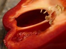 Macro del corte del paprika Imagenes de archivo
