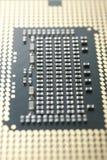 Macro del CPU Fotografia Stock Libera da Diritti